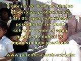 Varias Colonias de Valle de Chalco si agua potable