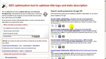 How to optimize title tag and meta description tag in HTML