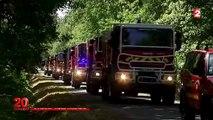"""Incendie en Gironde : les pompiers mènent """"un combat permanent"""" contre les flammes"""