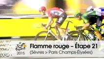 Flamme rouge / Last KM  - Étape 21 (Sèvres - Grand Paris Seine Ouest > Paris Champs-Élysées) - Tour de France 2015