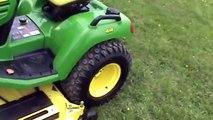 John Deere X585 Garden Tractor Lawn Mower 4x4 Power Steering Water Cooled For Sale Mark Supply Co