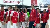 Arsenal Champion lift the Emirates Cup trophy - Arsenal vs Wolfsburg 1-0 26-07-2015 HD