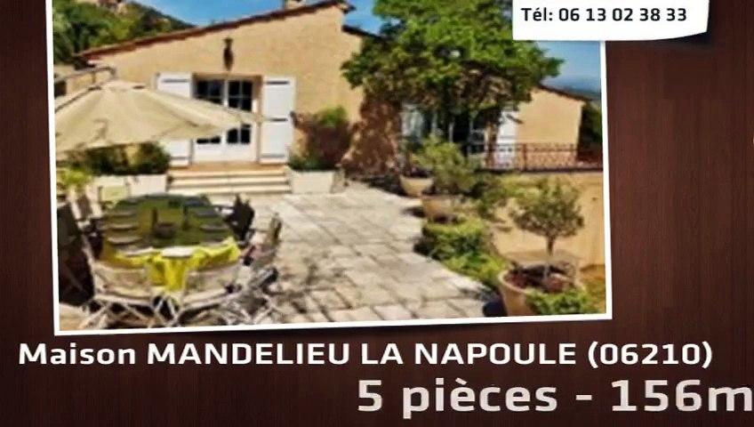 MANDELIEU LA NAPOULE - Maison  5 Pièce(s) 160 m²  à vendre colline de mandelieu vue dégagée studio indépendant