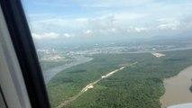 Malaysia Airlines landing at Kuching International Airport