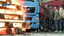 Bas-Rhin: des agriculteurs refoulent des camions à la frontière avec l'Allemagne