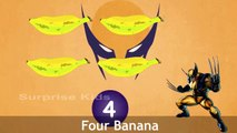 One Banana Two Bananas Rhymes | Nursery Rhymes For Children | Wolverine In Bananas Cartoon