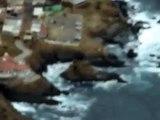 Vista aerea tomada en AVION CESSNA SKYMASTER Y BOING DC 3 de  la bufadora  Enenada y el cipres