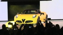Highlights of the 2015 Alfa Romeo 4C Spider Reveal at the 2015 NAIAS