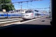 Arrivée TGV n°8415 Paris Montparnasse-Arcachon TGV n°8165 Paris Montparnas-Bordeaux