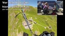 First-Interlaken auf 3657m mit Gleitschirm