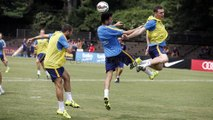 FC Barcelona training session: Second session at the American University in DC