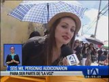 """Más de seis mil personas adicionaron en Quito para ser parte de """"La Voz"""""""