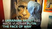 Ukrainian Artist Creates Portrait Of Vladimir Putin Out Of Bullet Shells