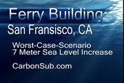 Ferry Building, San Fransisco California - Underwater Global Warming Catastrophe