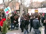 Manifestation contre la réforme Pécresse à Aix-en-Provence le 5 mars 2009