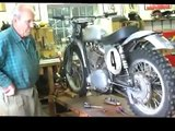 Jeff Smith In Shop Reviving his 1959-61 Gold Star Racer Number 4