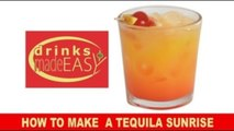 A 30-second How to make a Tequila Sunrise cocktail video-Drinks Made Easy