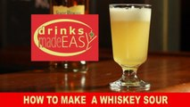 A 30 second How to make a quick Whiskey Sour cocktail-Drinks Made Easy