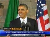 Obama brinda discurso ante jóvenes en México