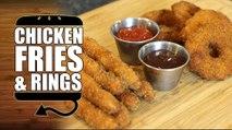 Burger King BK Chicken Fries & White Castle Chicken Rings Recipe Remake - HellthyJunkFood