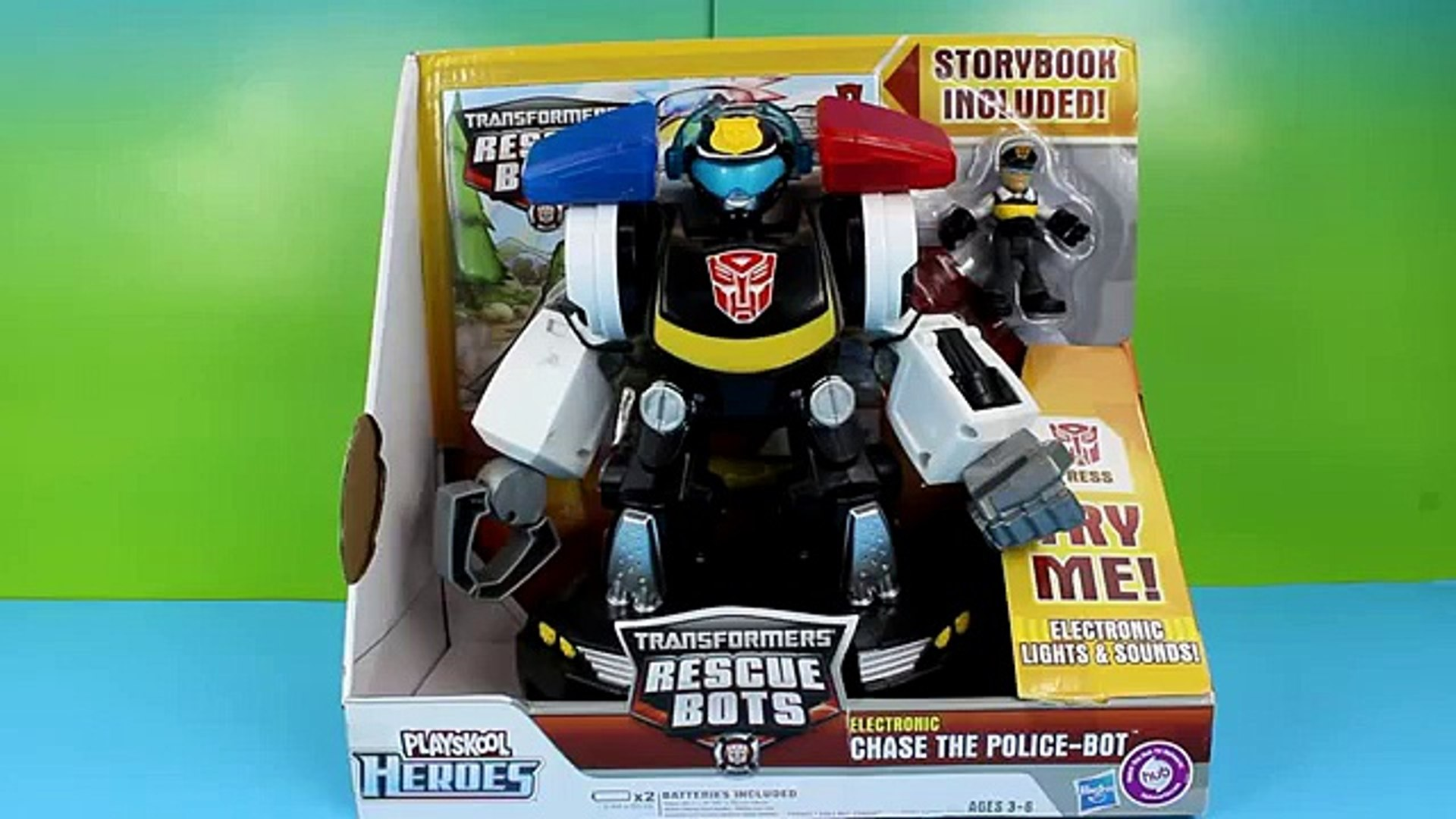 Transformers Rescue Bots Chase the Police Bot Saves Disney F