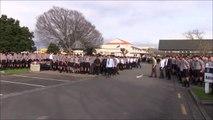 Most impressive HAKA dance ever performed : High Schoolers Haka Dance At Teacher's Funeral - New Zealand
