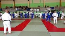 L'équipe de France féminine de judo au centre sportif de Normandie, à Houlgate (Calvados)