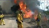 Santiago Fire -- Fighting fire with fire