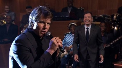 Tom Cruise releases his inner pop star on the Jimmy Fallon Show lip-sync battle