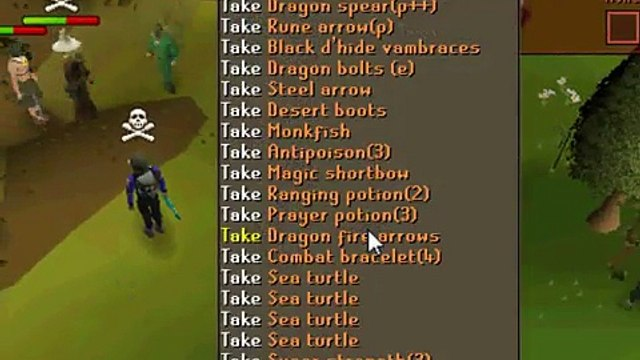 runescape: pk bh pvp the best of legends bow1 void, statius, vengeance, dragon claws ~ Banned