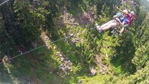 grouse mountain vancouver. getting stuck zip lining