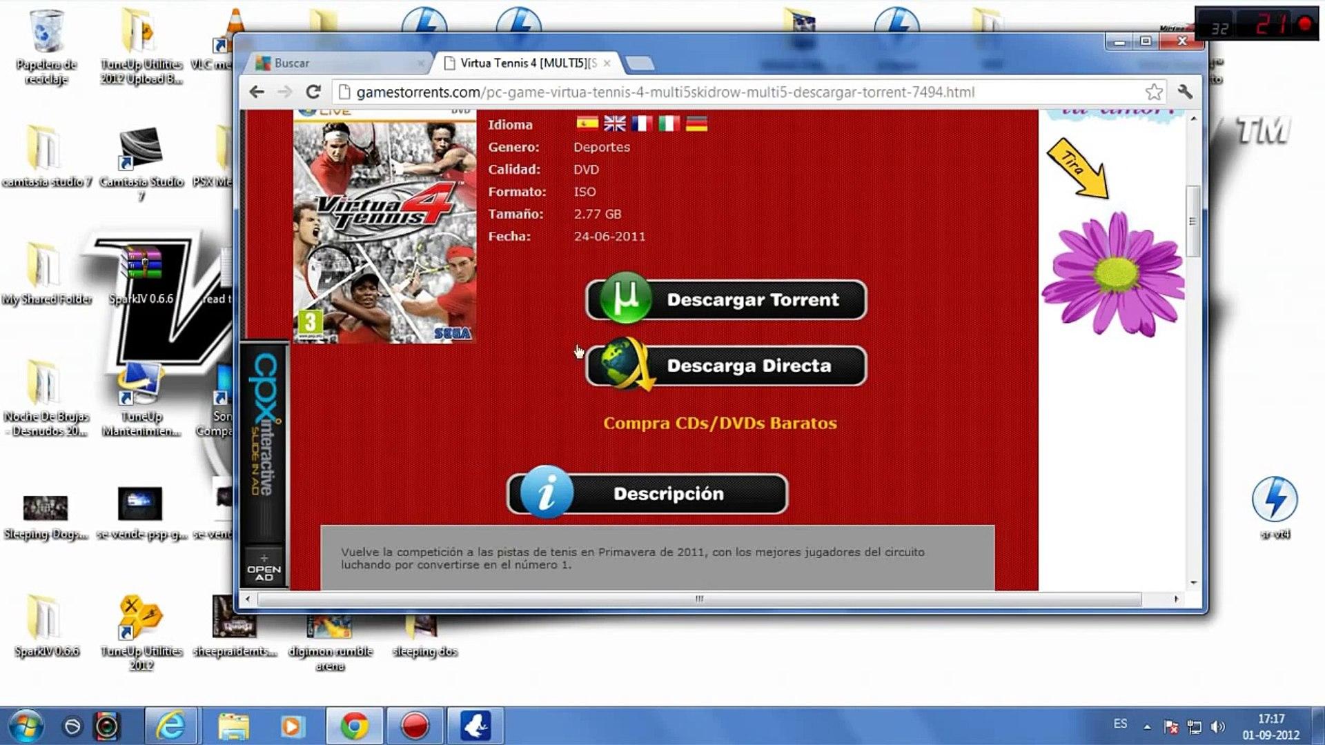 Descargar E Instalar Virtua Tennis 4 Full Español Para Pc 2012 Video Dailymotion
