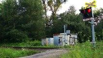 Železniční přejezd Lískovec u Frýdku, AŽD 71, lesní cesta.