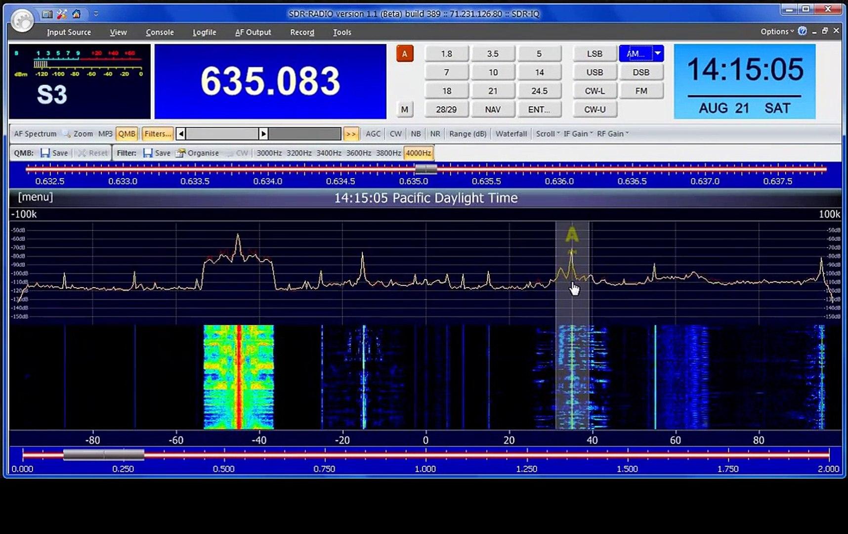 Receiving AM Broadcast on SDR-Radio