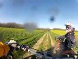 Yamaha 125 yz, Ktm 125 exc enduro GoPro