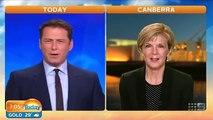 Julie Bishop giggles at Christopher Pyne parody