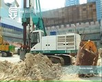 Casagrande B250 piling rig in rotary bored piling mode - piling rigs, piling equipment for sale