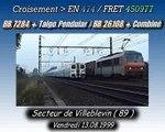 Croisement TRAIN DE NUIT  avec TRAIN DE FRET ( SNCF )