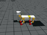 Royal doggy: gait transition without smoothed drive signal
