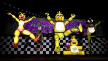 SFM FNAF CHICA SINGS THE PIZZA SONG TROLL   CHICA SONG ! FNAF 4 , 3 ,2 ,1