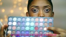 Full Face Makeup Tutorial Neutral Eyes Bold Lips  Makeup Transformation