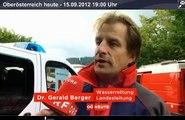 Oberösterreich Heute - Beitrag Suchaktion vermisster Ruderer Gmunden am 15.09.2012
