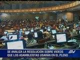 Videos presentados en el Pleno podría pasar por una revisión previa