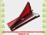 Leder-Konferenzmappe mit Griff f?r MacBook Pro mit Retina Display 13 rot