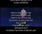 Let it go - icelandic (þetta er nóg) - Frozen/w. lyrics