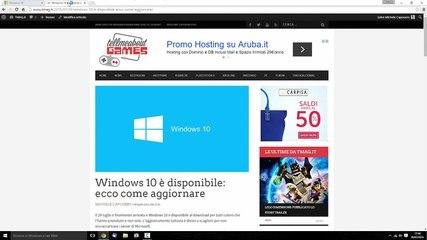 Come Installare Windows 10 - Aggiornamento