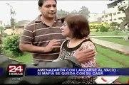 Rímac: mujeres amenazaron con lanzarse al vacío para evitar ser desalojadas