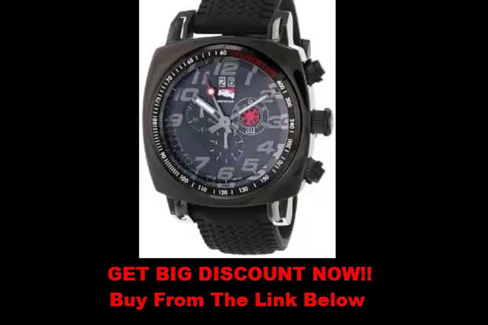 FOR SALE Ritmo Mundo Men's 221 INDYCAR Series Black Stainless Steel Watch with Tire-Tread Strap