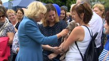 Prince Charles and Camilla bond with the animals at Sandringham Flower Show