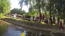 Im Kanu auf dem Leinekanal durch Göttingen